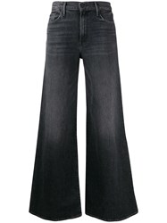 Mother High Rise Flared Leg Jeans Black