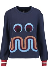 Mother Of Pearl Ambram Embroidered Cotton Sweatshirt Blue