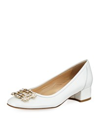 Sesto Meucci Heda Pearly Embellished Pump White