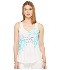 Lilly Pulitzer Cordelia Top Multi Follow Me To The Sea Graphic Women's Clothing White