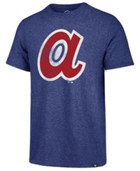 47 Brand '47 Men's Atlanta Braves Coop Triblend Match T Shirt Royalblue