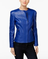 Inc International Concepts Faux Leather Moto Jacket Only At Macy's Goddess Bl