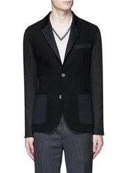 Lanvin Mixed Jersey Soft Blazer Black