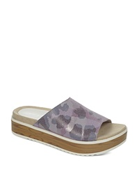 Naya Slide Sandals Ursa Footbed Lavendar Camo