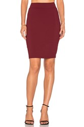 Susana Monaco Pencil Skirt Burgundy