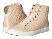 Ecco Soft 7 Quilted High Top Rose Dust Rose Dust Women's Lace Up Casual Shoes Beige