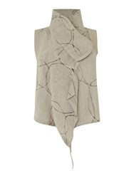 Crea Concept Zip Gilet With Circles Grey