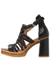 Mjus Creek Platform Sandals Nero Black