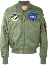 Alpha Industries Badge Bomber Jacket Green