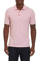 Robert Graham Men's Messenger Pique Polo Heather Raspberry