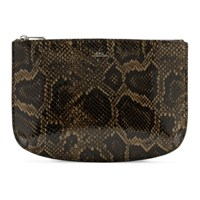 A.P.C. Brown Embossed Python Sarah Pouch