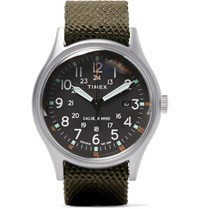 Timex Camper Mk1 Stainless Steel And Nylon Webbing Watch Black