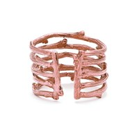 Chupi Love Is All You Need Twig Ring In Rose Gold