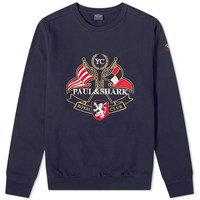 Paul And Shark Nautical Crest Crew Sweat Blue