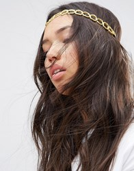 Asos Limited Edition Fabric Chain Headband Gold
