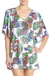 Trina Turk Finding Dory Print Cover Up Tunic Multi