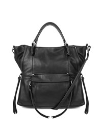Everette Leather Satchel Bag Black Kooba