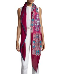 Loro Piana Scialle Les Jardins Cashmere Silk Scarf Fresh Berry Men's Fresh Berry Cle Fresh Berry Cle