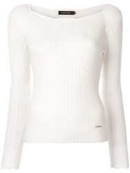 Loveless Ribbed Jumper White