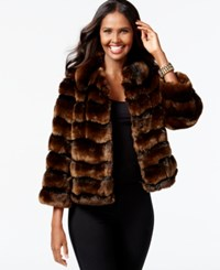 Inc International Concepts Striped Faux Fur Jacket Only At Macy's