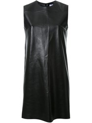 Scanlan Theodore Leather Shift Dress Black