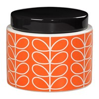 Orla Kiely Linear Stem Storage Jar Persimmon Orange