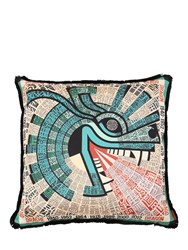 Missoni Dragon Horoscope Cotton Pillow Multicolor