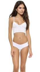 Free People Stretch Lace Crop Bra White