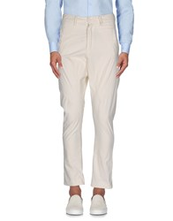 Poeme Bohemien Trousers Casual Trousers Ivory