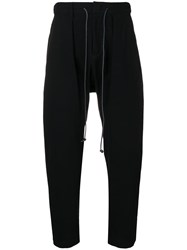 Attachment Drawstring Tapered Trousers Black