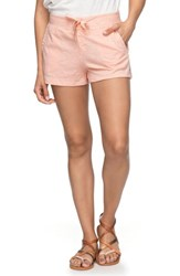 Roxy 'S Sunset Pie Cotton Shorts Tropical Peach