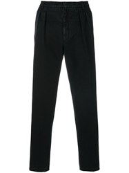 Gabriele Pasini Straight Leg Suit Trousers Cotton Polyester Black