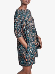 Hush Ivy Oversized Cocoon Dress Abstract Print