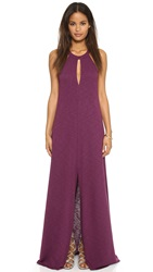 Lanston Slit Halter Neck Maxi Dress Rhapsody