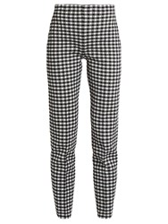 Sonia Rykiel Checked Knit High Waisted Trousers Black White