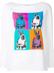 Paul Smith Ps By Rabbit Print T Shirt White