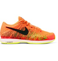 Nike Tennis Zoom Vapor Flyknit Sneakers Bright Orange