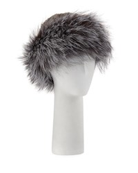 Surell Knitted Fur Hat Gray