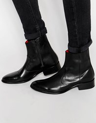 Base London Lancelot Leather Boots Black