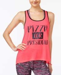 Material Girl Active Juniors' Graphic Racerback Tank Top Only At Macy's Flashmode