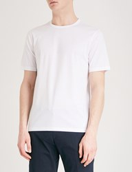 Gieves And Hawkes Crewneck Cotton Jersey T Shirt White