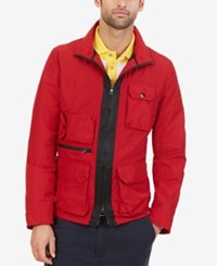 Nautica Men's Utility Jacket Nautica Red