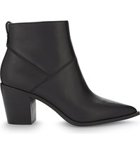 Aldo Chantila Leather Heeled Ankle Boots Black Leather