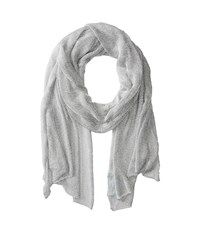 Betsey Johnson Blue By Love Liquid Mesh Wrap Silver Scarves