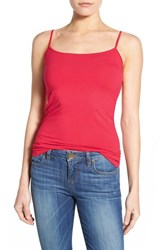 Women's Halogen 'Absolute' Camisole Red Barberry