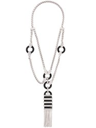 Dsquared2 Double Fringed Necklace Metallic