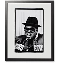 Sonic Editions Framed Peter Anderson 1988 Run Dmc Print 16 X 20 Black