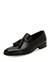 Salvatore Ferragamo Forever Tassel Leather Loafer Black Nero 099