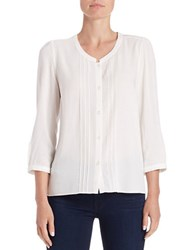 French Connection Button Front Blouse Summer White