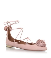 Aquazzura Sunshine Flats Female Light Pink
